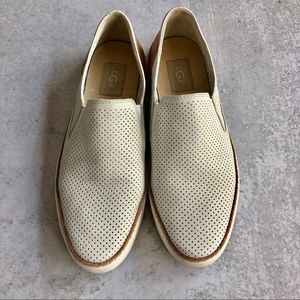 UGG | White Adley Perforated Slip On Sneakers
